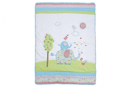 elephant quilt cot baby nursery newborn free delivery