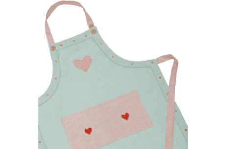 apron heart cute duck egg blue kitchen designer quality