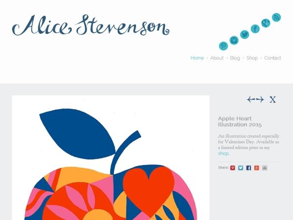 alicestevenson.com - 50 British Textiles Designers' websites for Inspiration