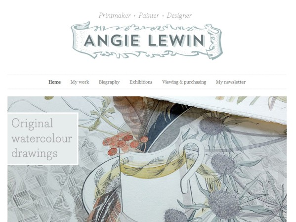 angielewin.co.uk - 50 British Textiles Designers' websites for Inspiration