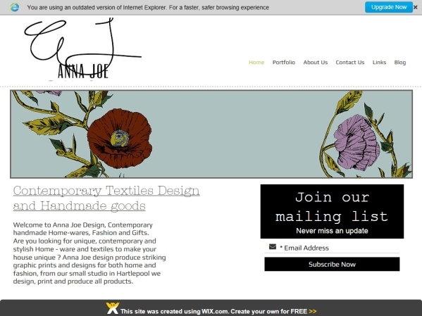 annajoe.co.uk - 50 British Textiles Designers' websites for Inspiration