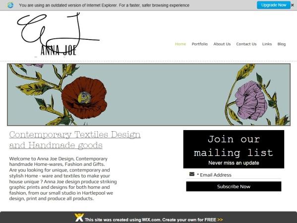 annajoe.co.uk - 50 British Textiles Designers' websites for Inspiration