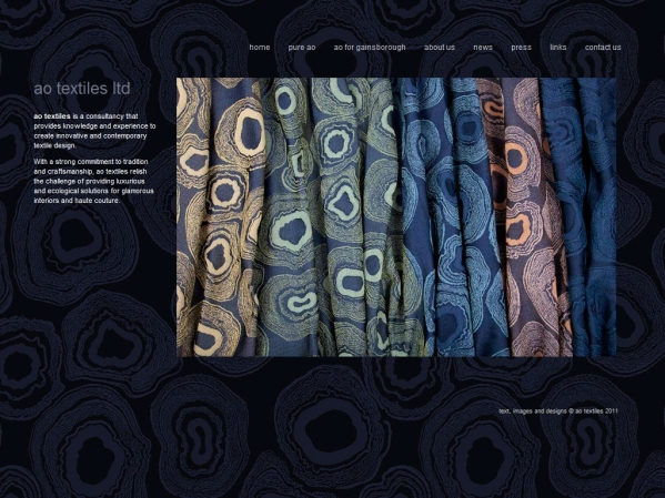 aotextiles.com - 50 British Textiles Designers' websites for Inspiration