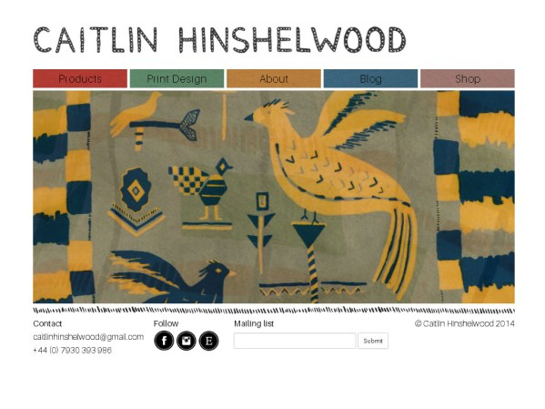 caitlinhinshelwood.co.uk - 50 British Textiles Designers' websites for Inspiration