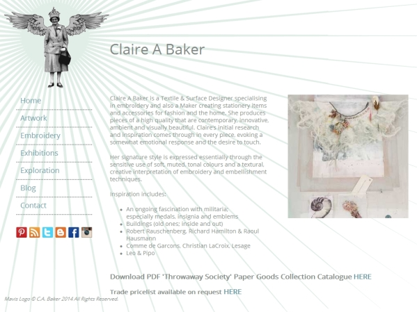 claireabaker.co.uk - 50 British Textiles Designers' websites for Inspiration