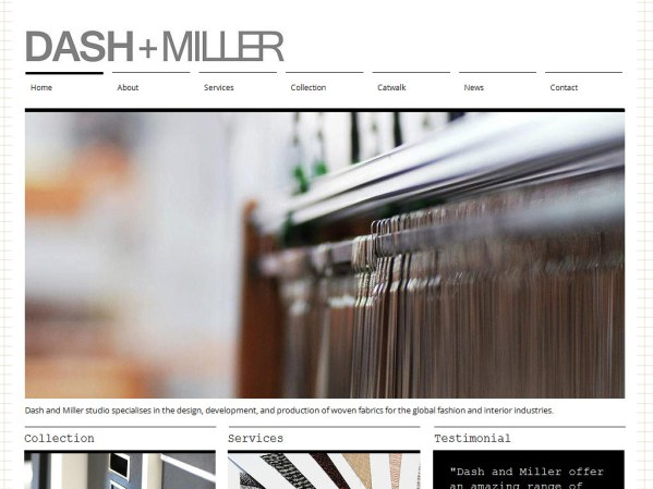 dashandmiller.com - 50 British Textiles Designers' websites for Inspiration