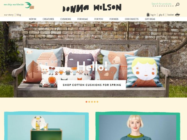 donnawilson.com - 50 British Textiles Designers' websites for Inspiration