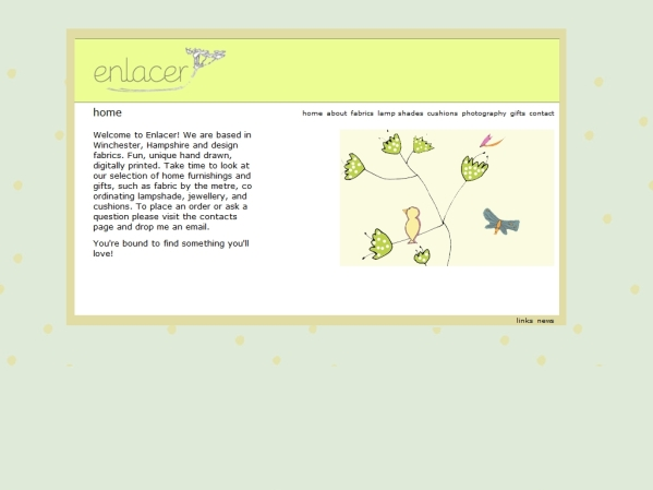 enlacer.co.uk - 50 British Textiles Designers' websites for Inspiration