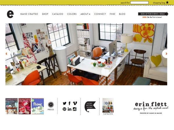 erinflett.com - 50 British Textiles Designers' websites for Inspiration