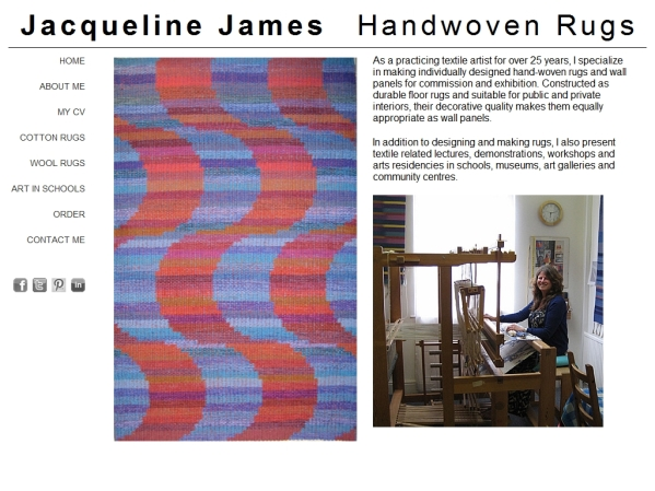 HandWovenRugs.co.uk - 50 British Textiles Designers' websites for Inspiration