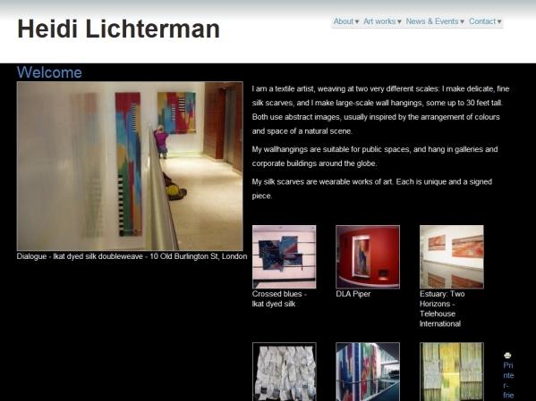 HeidiLichterman.co.uk - 50 British Textiles Designers' websites for Inspiration