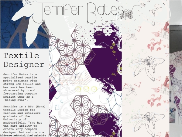 jenniferbates.co.uk - 50 British Textiles Designers' websites for Inspiration