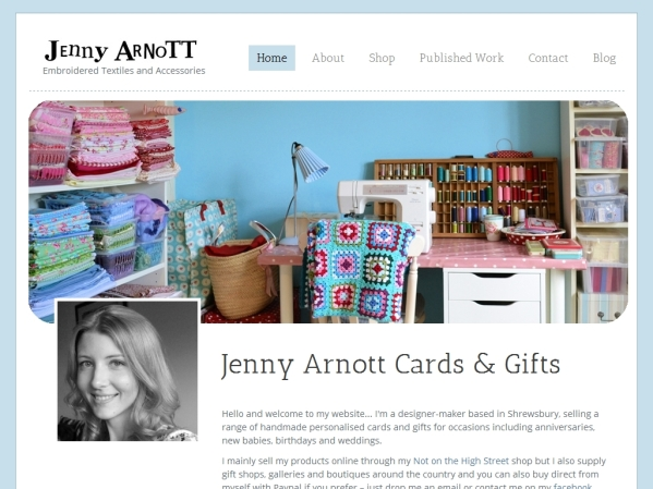 jennyarnott.co.uk - 50 British Textiles Designers' websites for Inspiration