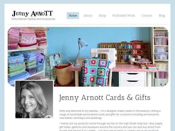 jennyarnott.co.uk - 50 British Textiles Designers' websites for Inspiration