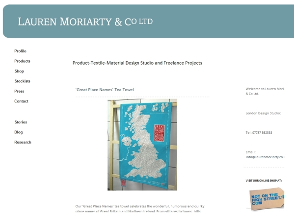 laurenmoriarty.co.uk - 50 British Textiles Designers' websites for Inspiration