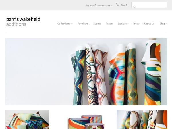 parriswakefieldadditions.com - 50 British Textiles Designers' websites for Inspiration