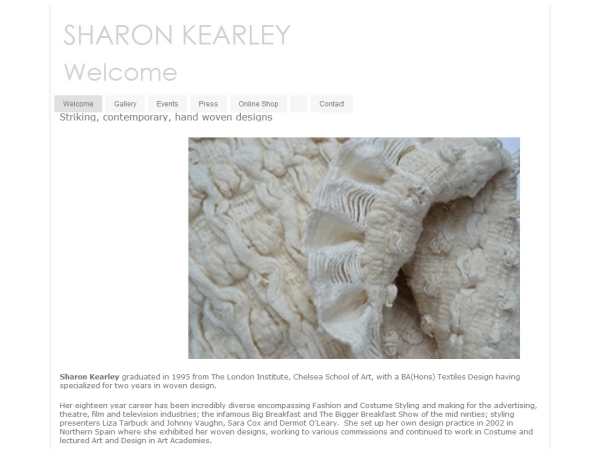 SharonKearley.com - 50 British Textiles Designers' websites for Inspiration