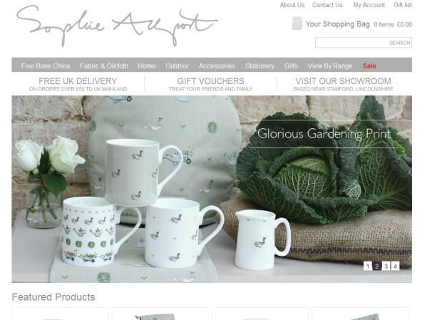 sophieallport.com - 50 British Textiles Designers' websites for Inspiration