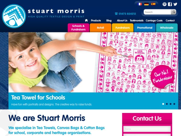 stuartmorris.co.uk - 50 British Textiles Designers' websites for Inspiration