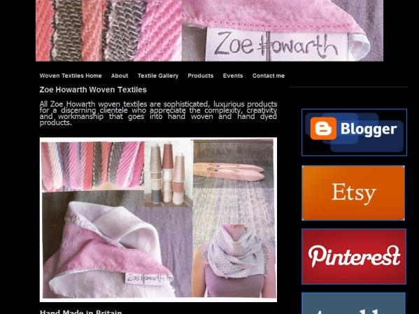 zoehowarth.com - 50 British Textiles Designers' websites for Inspiration