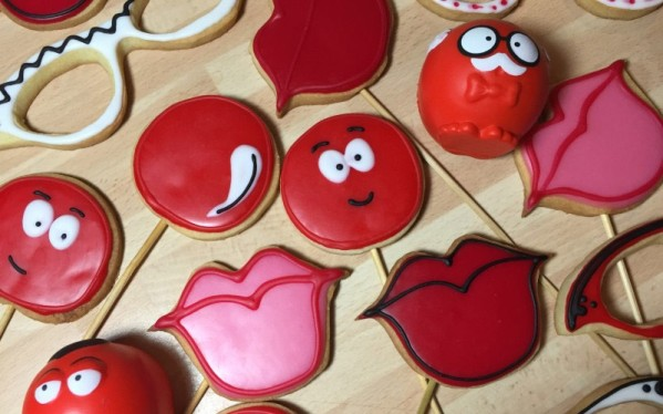 Photo Booth Biscuits for Comic Relief