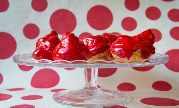 Red Nose choux buns recipe