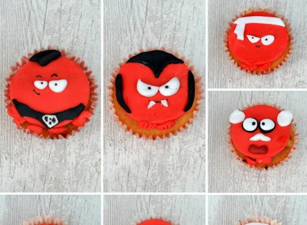 Red Nose Day Cupcakes for Comic Relief