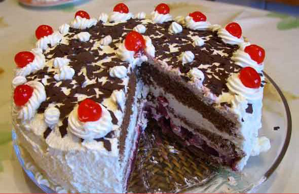 Let the Comic Relief Bake Off begin: White forest gateaux recipe