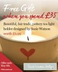 Free Susie Watson Tea Light Holder